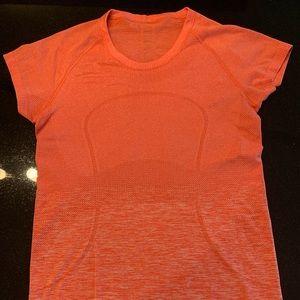 Part 5 of 6 - Lululemon orange workout t-shirt